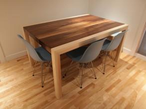 Table et banc for Table de salon en merisier